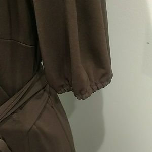 Ann Taylor Dresses - The Loft Brown Wrap Dress Size 12